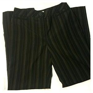 Loft   black slacks Laura Fit wool poly blend